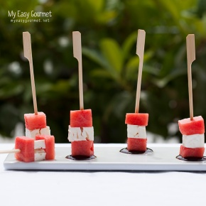 Watermelon feta cubes