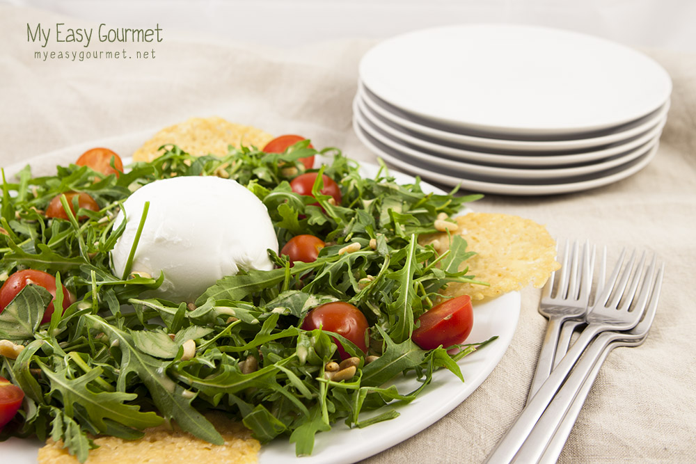 Rocket mozzarella salad